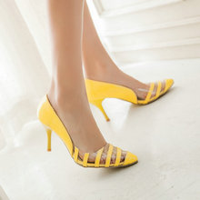 plus size 46 women fashion shoes high heels Thin woman pumps sexy elegant Spring Autumn Slip On non-slip ladies pumps shoes