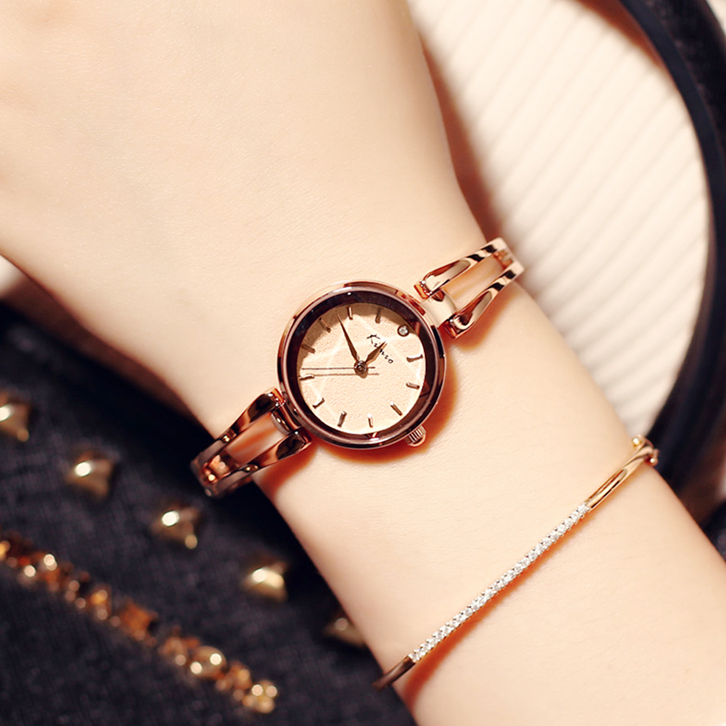2018 Famous Kimio Brand Quartz-watch Women bracelet wristwatches ladies dress Casual clock luxury Relogio Feminino with Gift Box ccq luxury brand vintage leather bracelet watch women ladies dress wristwatch casual quartz watch relogio feminino gift 1821