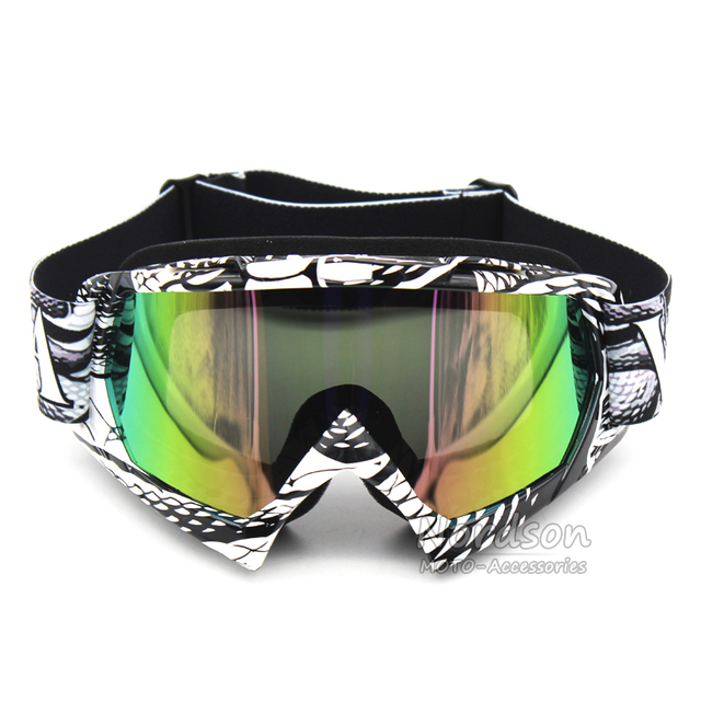 Nuoxintr Colorful Gafas Moto Vintage Uv Protection Off Road