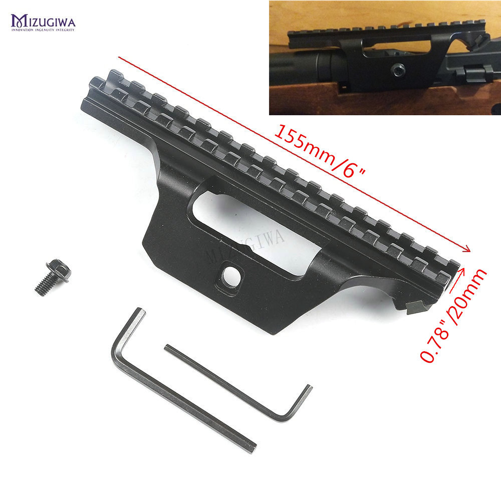 Low Profile See-Through Mount Guide Side Rail 20mm Weaver Base Picatinny Scope Sight Adapter Tactical M1A M14 AK47 .308 Rifles