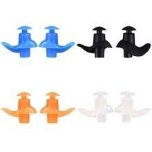Плавательные принадлежности водонепроницаемые беруши силиконовые затычки для ушей для плавания прозрачный оранжевый черный синий мягкий и удобный