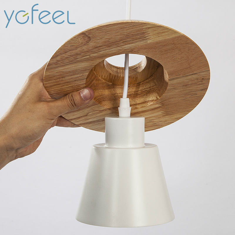 Luzes Pingente suporte da lâmpada de madeira Tensão : 90-260v