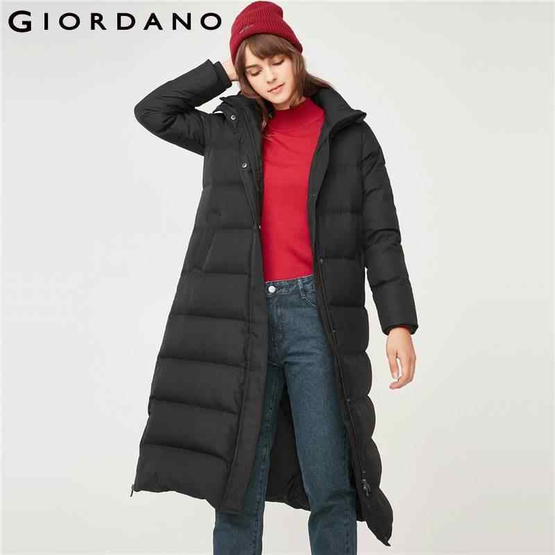 Джордано Для женщин 90% пуховик с капюшоном Водонепроницаемый зимнее пальто для Для женщин длинные Длина пуховый женская одежда Invierno 2018