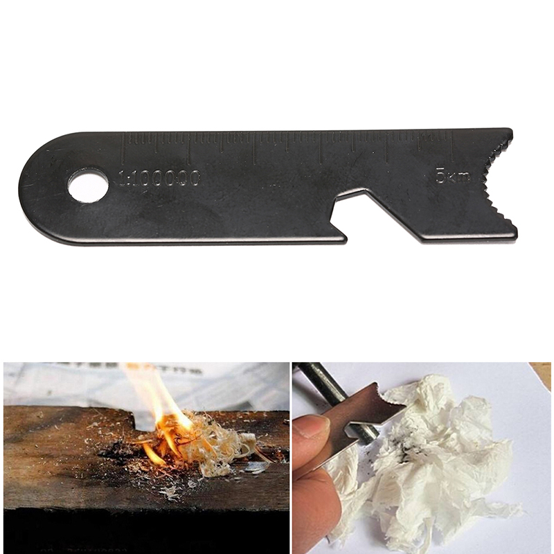Outdoor Camping Hiking Survival Flint Scraper Square Type Outdoor Survival Tool
