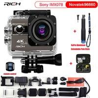 RICH Action Camera F68 F68R Ultra HD 4K 1080P Wifi 16MP 2 Inch Voice Alert 170 Len Helmet Cam Extreme Sports Camera