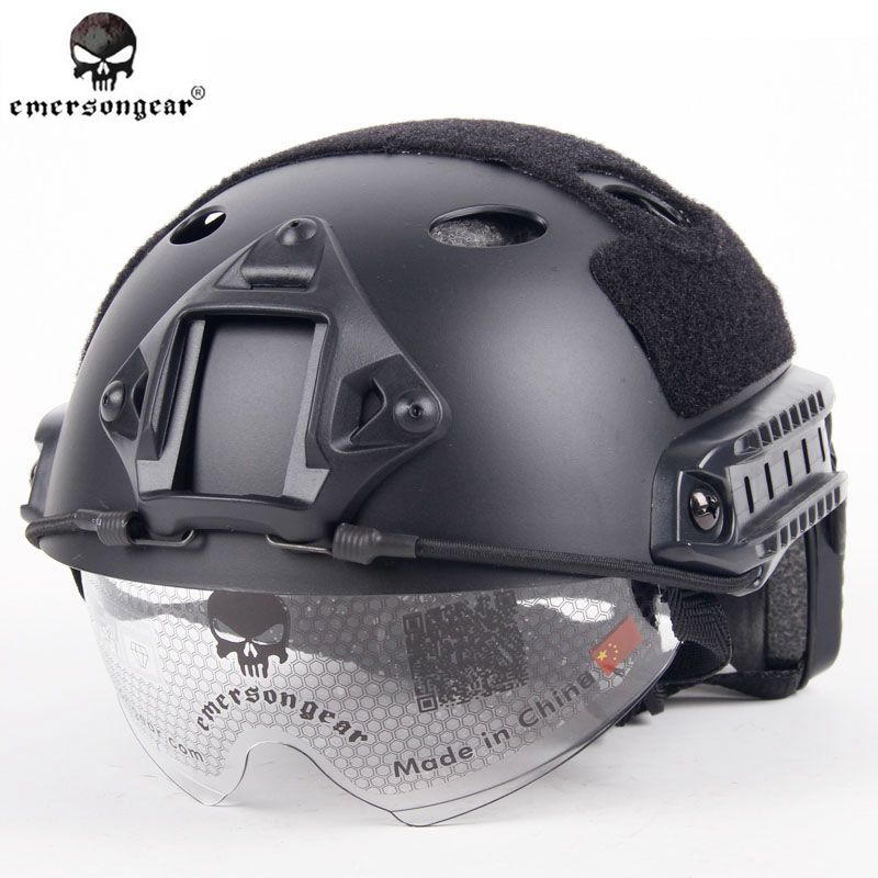 Emersongear Military Sports Safety FAST Helmet With Protective Goggle PJ Type Airsoft Helmet Pararescue Jump helmet EM8819 emerson airsoft tactical fast protective helmet pararescue jump pj type kryptek mandrake em5668i