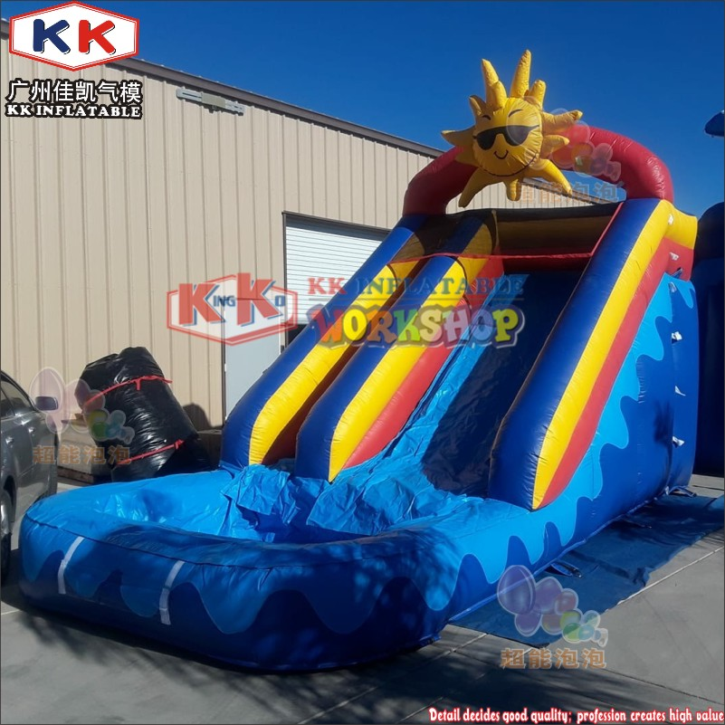 Commercial used sun inflatable water slide lovely ce - Used swimming pool slides for sale ...