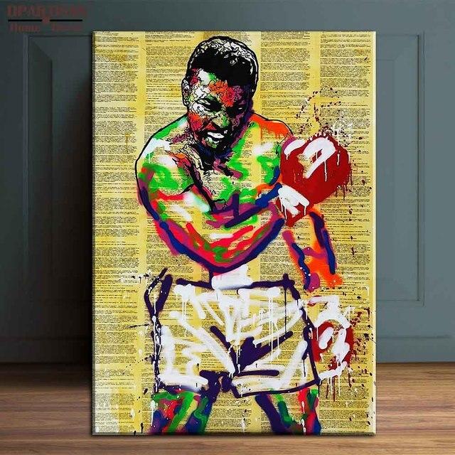 New boxing Alec monopoly Graffiti arts print canvas for wall art ...