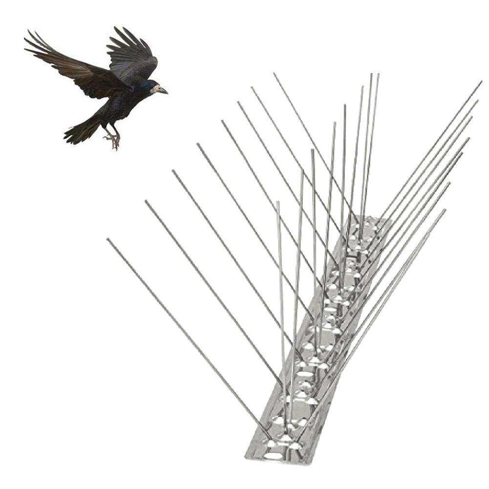 50CM Defender Bird Repeller Bird Spikes Stainless Stee Discs Set Bird Blinder Spikes Kit Sliver Practical Quick Delivery(China)