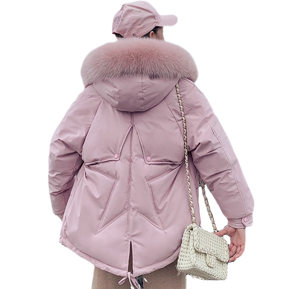 slim long winter coat Women down   parka   down jacket medium length and loose lovely clothes winter 813