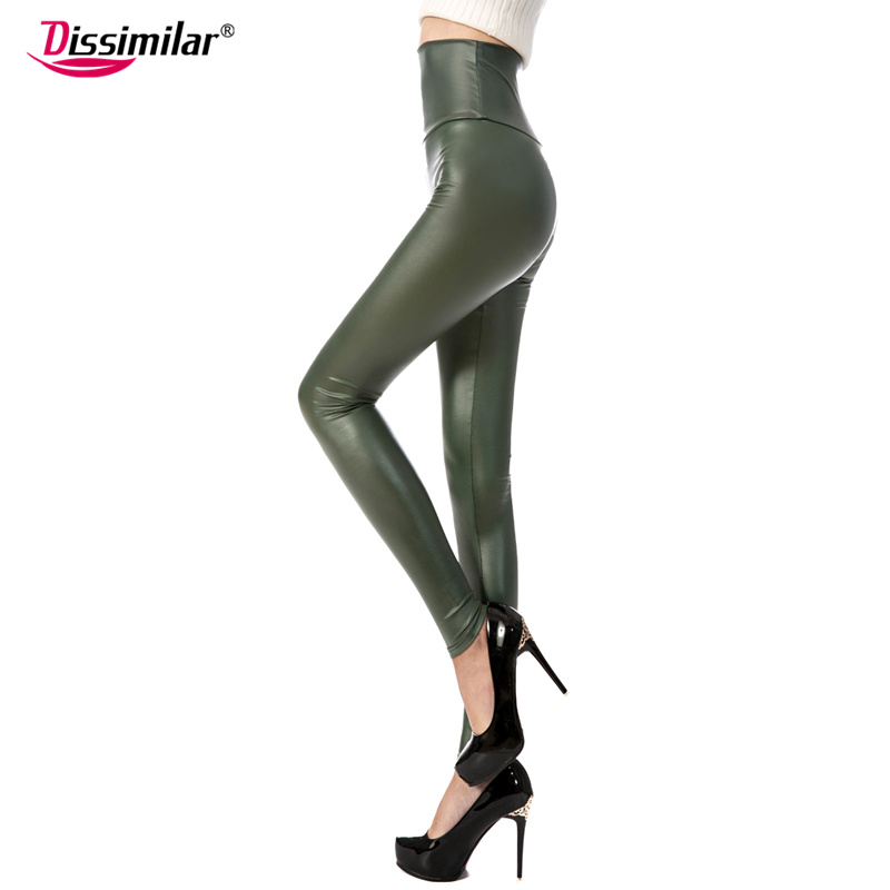 New Fashion women's Sexy Skinny Faux Leather High Waist Leggings Pants