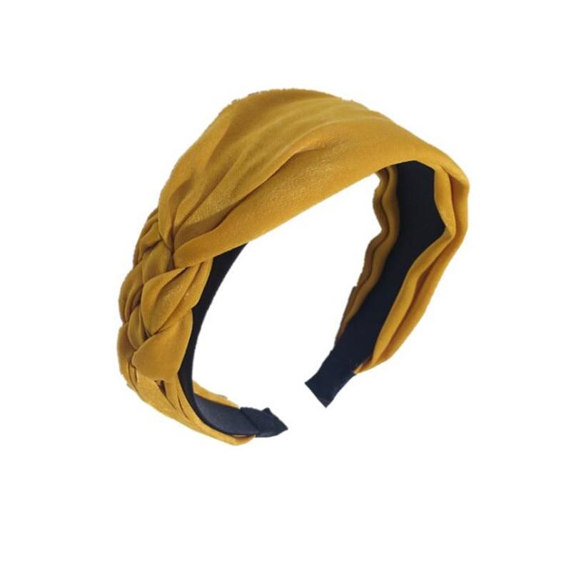Korean Boutique Hairband Cloth Twist Weaving Headband Women Girls Hair Head Hoop Bands Accessories For Hair Scrunchy Hairbands in Women 39 s Hair Accessories from Apparel Accessories