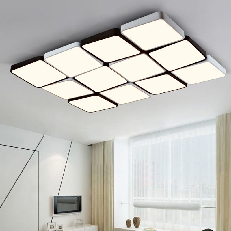 (EICEO) LED Tavan Lampa Düzbucaqlı Müasir Minimalist Ultra nazik - Daxili işıqlandırma - Fotoqrafiya 2