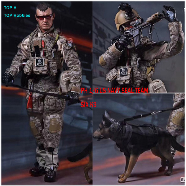 PLAYHOUSE PH 1/6 US NAVY SEAL TEAM SIX K9 Collection Action Figure New Box Guns With Dog Model us navy uss carl vinson cvn 70 supercarrier 5 inch patch d19