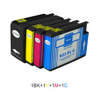4pcs For HP 932 933 Compatible Ink Cartridges For HP 932XL 933XL Officejet Pro 6100 6600