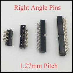DC3 10P 14P 16P 20 P 10 14 16 20 pinów 1.27mm Pitch kątowy dwurzędowe złącze przestrzeni IDC ISP JTAG męski nagłówek gniazdo Box