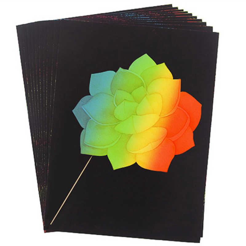 تلوين خدش بطاقات ألعاب الأطفال لوحة الرسم خدش اللوحة خدش الفن ورقة ملونة الحرفية الرسم اللعب تعلم التعليم