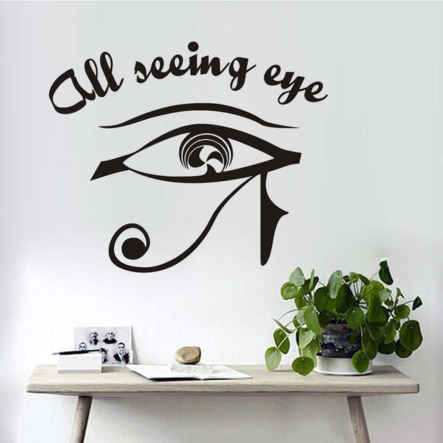 Großen Augen Make Up Kunst Wand Aufkleber Vinyl Aufkleber Alle Seeing Eye  Wohnkultur Schlafzimmer Schönheit