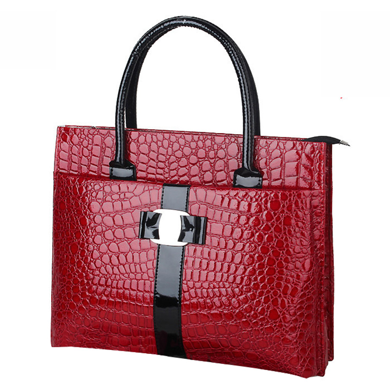 Fashion Luxury OL Lady bags handbags women famous brands Crocodile Pattern Hobo Handbag Tote PU Shoulder handbag