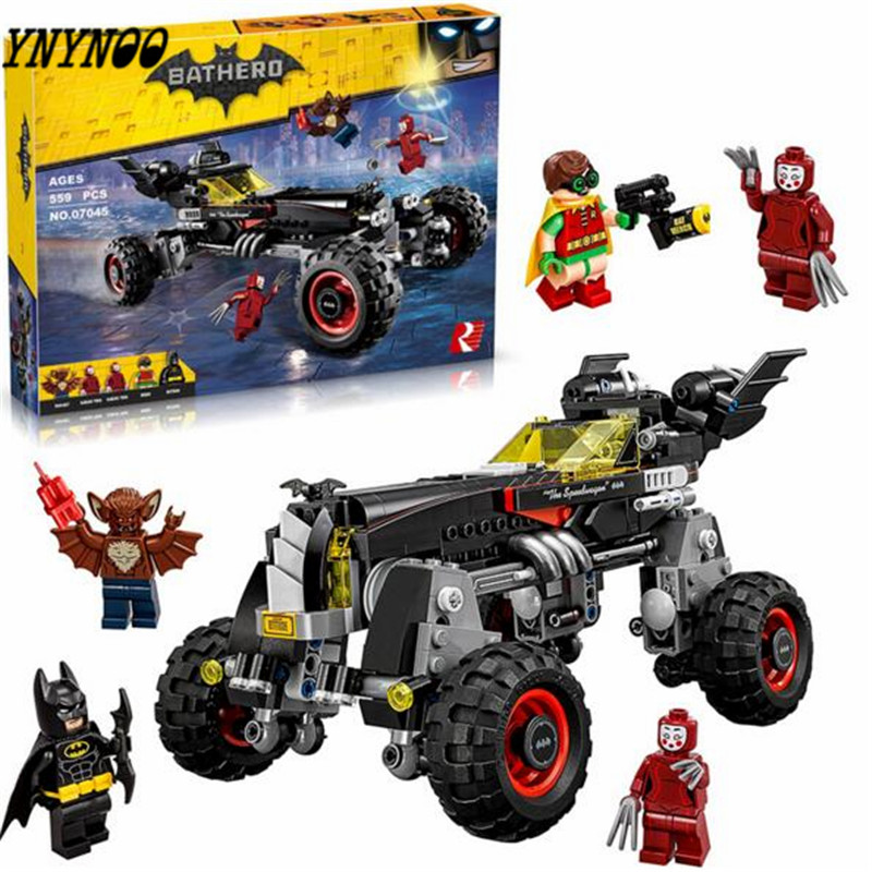 YNYNOO 2017 Lepin 07045 Super Heroes Batman lepin batman movie building Blocks New year Gift Toys for children Bela 70905 gonlei new 610pcs 10634 batman movie the batmobile building blocks set diy bricks toys gift for children compatible lepin 70905
