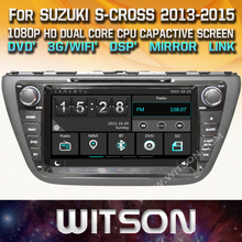 WITSON CAR AUDIO STERE For SUZUKI S-CROSS 2013-2015 car dvd gps radio with Capctive Screen 1080P DSP WiFi 3G DVR Good Price