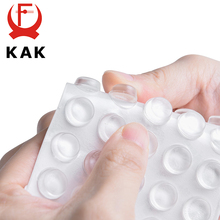 KAK 30-80PCS Self Adhesive Silicone Furniture Pads Cabinet Bumpers Rubber Damper Buffer Cushion Protective Furniture Hardware 40 self adhesive silicone rubber cabinet door pad bumper stop damper cushion hardware