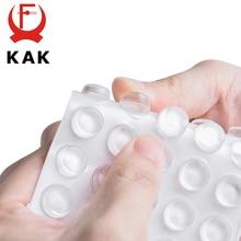 KAK almohadillas de silicona autoadhesivas para muebles, parachoques de gabinete, amortiguador de goma, almohadillas protectoras para muebles, 30 80 Uds.