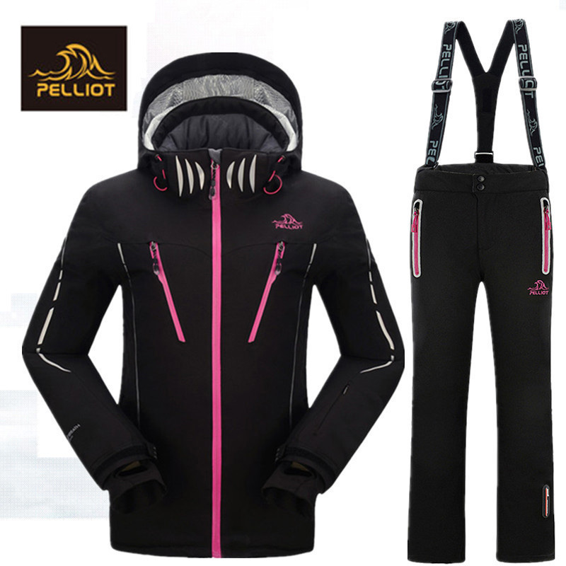 Pelliot WaterProof FREE SHIPPING Guarantee Authentic WOMEN Ski Suits Jacket Men s Thermal Cottom Padded Snowboard