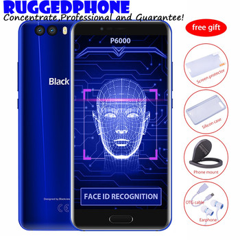 Blackview P6000 Face ID Smartphone Helio P25 2.6GHz 6180mAh Supperbattery 6GB 64GB 5.5 inch FHD 21MP Dual Rear Cams Mobile phone smartphone