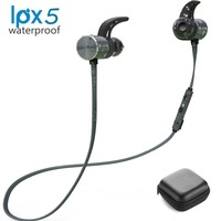 Plextone Bluetooth Sport Earphones IPX5 Blue Black Color Waterproof Wireless Headphone Magnetic Headset With Microphone With