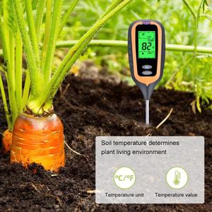 Image 3 - חדש 4 in 1 קרקע בודק PH מד לחות מדדי לחות מדחום צמח אור בעוצמה מטר לגן, שתילה, אדמות חקלאיות