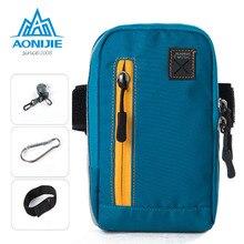 купить AONIJIE Arm Bags Outdoor Running Coins Purse Waterproof Waist Bag Sports Phone Mobile Wallet Key Package Arm Belt Shoulder Bag онлайн