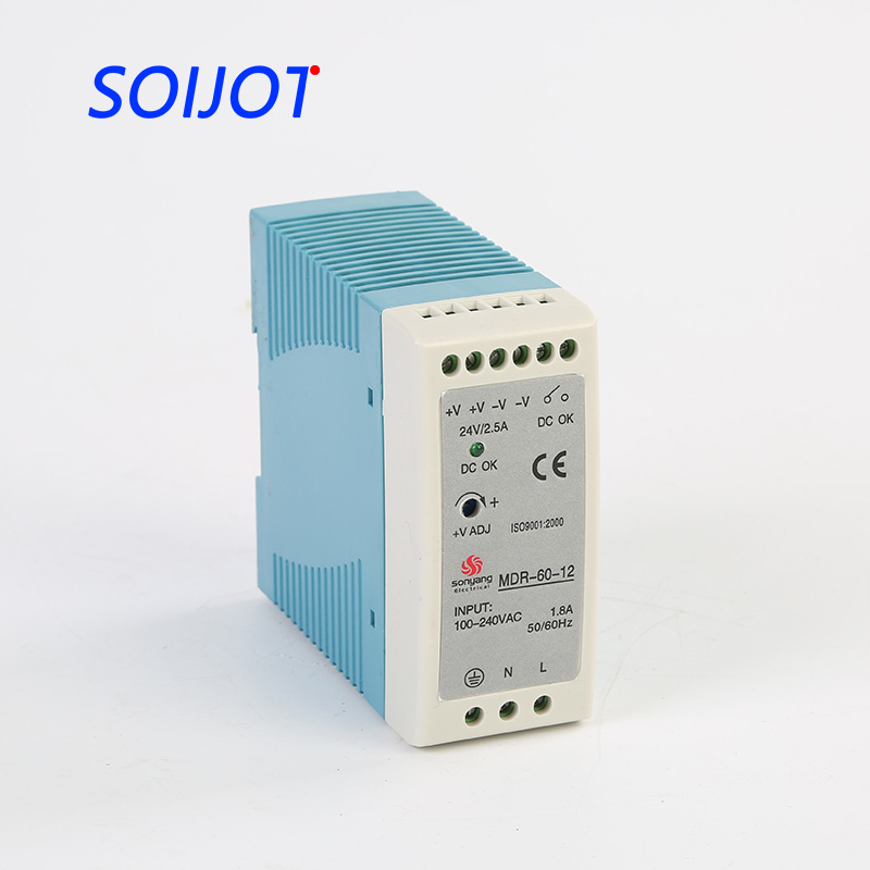 цены MDR-60 Single Output switching power supply 60W 5V 12V 24V ac dc converter variable dc voltage regulator