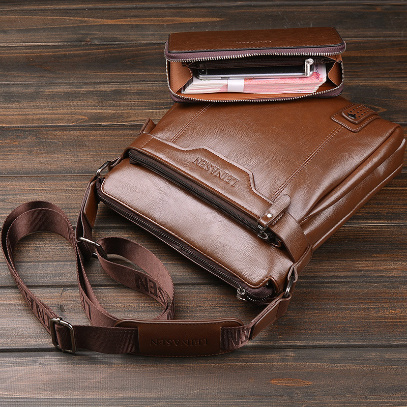 LEINASUN Marca de negocios Bolso de hombro Bolso casual de los hombres bolso de viaje de crossbody Bolas Masculina moda bolsos de mensajero cuadrados pequeños