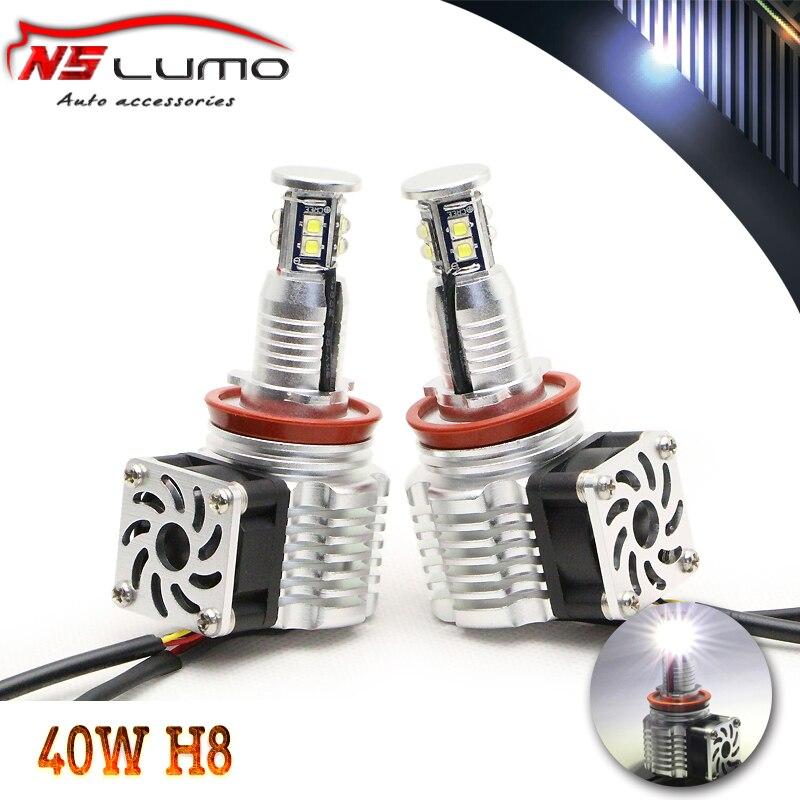 Машина е92 лампы, 80 Вт с РЗЭ вентилятор внутри Е60,E89 Z4,на E82E92,Е70 Х5,Е90 Е92 м3, h8 светодиодные ангел глаз без ошибок, отметка h8 canbus из светодиодов