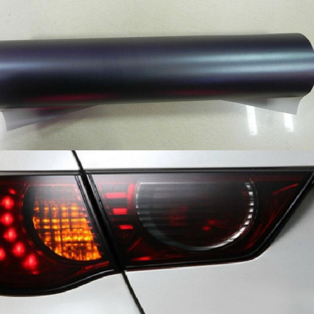 Dull Polish Black 40cm X100cm Auto Car Light Taillight Tint Vinyl Film Sticker Wrap Easy Diy