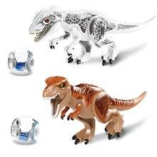 ENLIGHTEN 2Pcs/Sets 79151 Jurassic Dinosaur world Figures Tyrannosaurs Rex Building Blocks Compatible With Legoed Toys