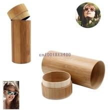 Бамбуковая коробка для солнцезащитных очков, модные мужские и женские бамбуковые деревянные солнцезащитные очки ручной работы, коробка для очков, Чехол для очков W033, горячая Распродажа