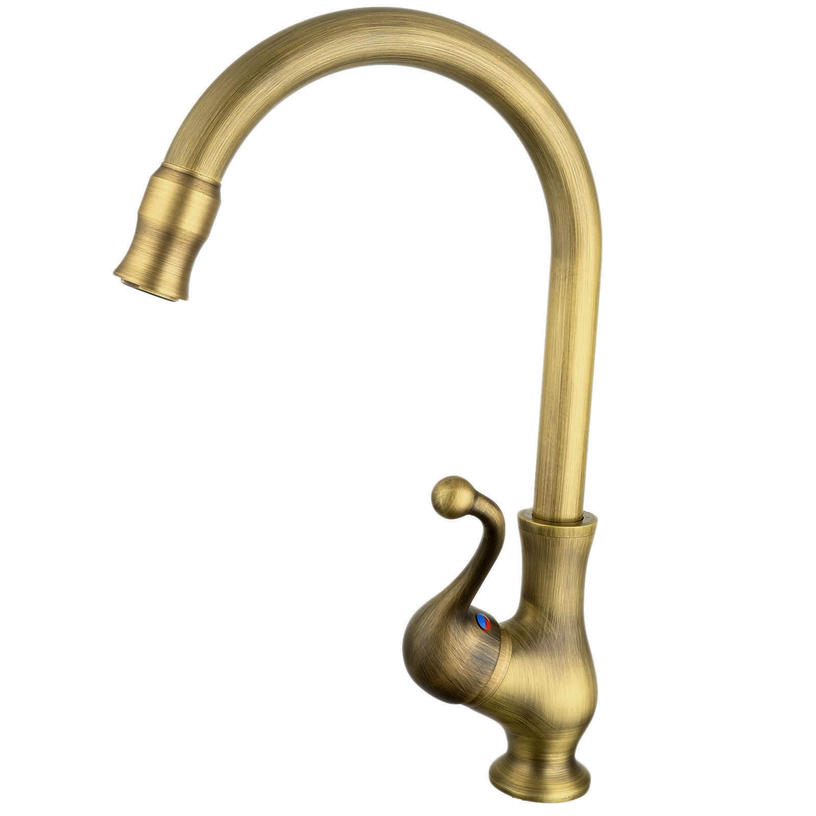 Antique Bronze Kitchen Faucet Single Handle Vessel Sink Mixer Tap Bathroom Basin Faucet Hot and Cold Water Tap Swivel Spout black oil rubbed brass single hole handle kitchen swivel spout vessel basin sink faucet hot cold mixer water tap anf060