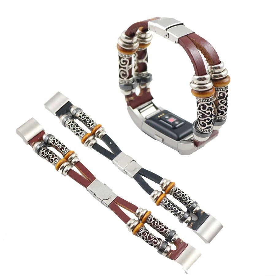 Haute Qualité Bracelet En Cuir Pour Fitbit Charge 2 Bande Bracelet À Puce Remplacement Bracelet Bracelet Pour Fitbit Charge 2
