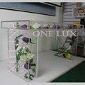(Embalagem de KD) Tansparency Alta de Acrílico Mesa De Noiva, Evento Plexiglass Console de Mesa Perfeito para o casamento