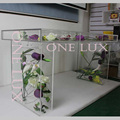 (KD packing)High Tansparency Acrylic Bridal Table,Plexiglass Event Console Desk Perfect for wedding
