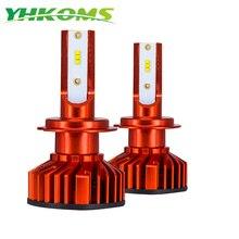 """YHKOMS мини H7 светодиодный Canbus H4 автомобилей головной светильник H1 H3 H8 H9 H11 9005 HB3 9006 HB4 880 881 H27 лампада туман светильник, футболка с принтом """"автомобиль"""" светильник лампы 12V"""