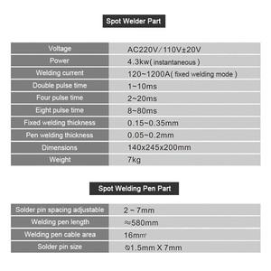 Image 5 - 4.3KW 737G + ספוט מכונת ריתוך עבור 18650 סוללות ניקל רצועת חיבור סוללה ספוט רתך גבוהה כוח מיחידים ריתוך עט