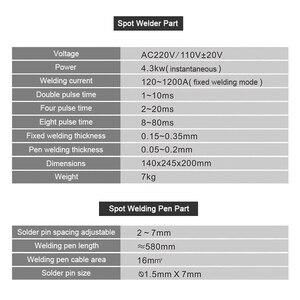 Image 5 - SUNKKO 737G + 4.3KW 스폿 용접기 18650 배터리 니켈 스트립 연결 배터리 스폿 용접기 고전력 용접 펜