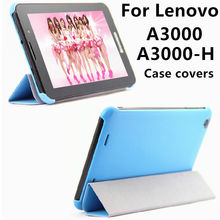 Caso Para Lenovo A3000 A3000-H Protectora cubierta Elegante de Cuero de la Tableta PC a3 A3000 H a3000h Cubre Protector PU Casos de Manga 7 pulgadas