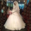 Louisvuigon куртка с длинным рукавом высокая мусульманин бальное платье свадебное платье с аппликациями кружева берта