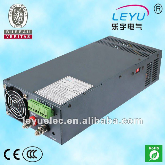 цена на LEYU PFC function 80A 12V 24V 48V hot sell 1000W Single Output with Parallel Function SCN-1000