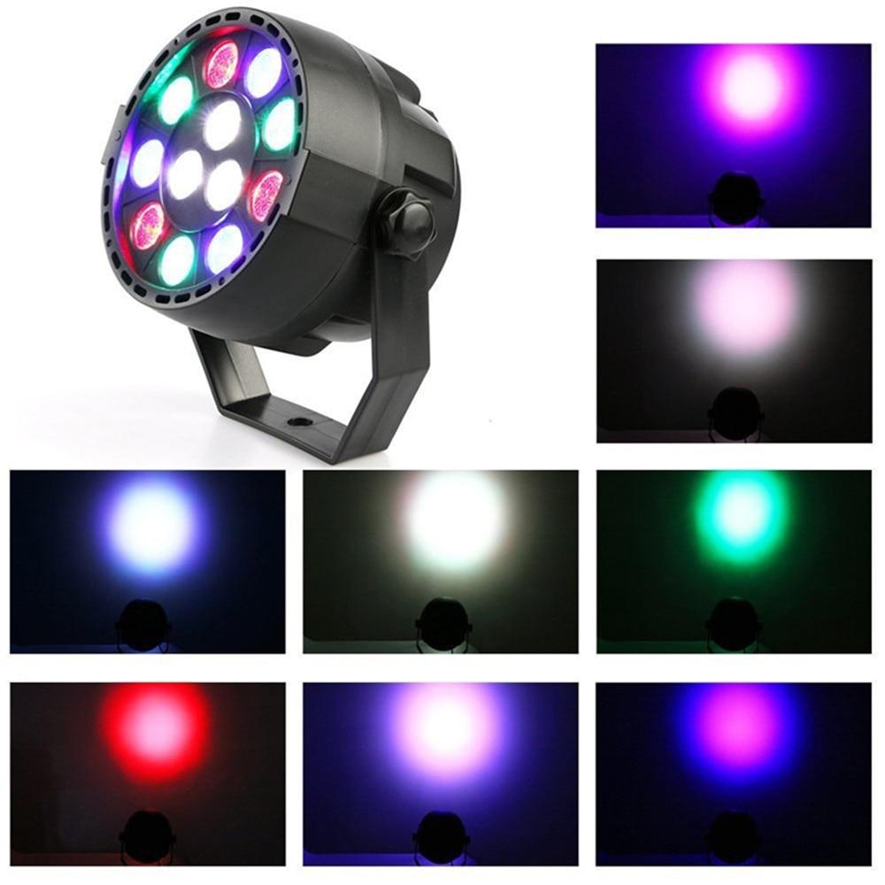 12W RGBW LED Par stage Lighting 8CH DMX-512 12 LED Stage Light for Laser Projector Party Club Wedding KTV AC85-265V EU