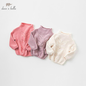 Image 1 - DB8972 dave bella autumn knitted sweater infant baby girls long sleeve pullover kids toddler tops children knitted sweater